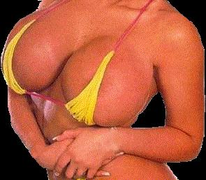 Just short of huge breast implants